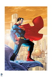 Superman: Superman Standing on Ledge Prints
