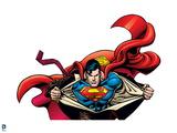 Superman: Superman Action (Half Body) Prints