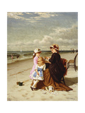 At the Seashore, 1881 Giclee Print by Samuel S. Carr