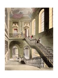 Hall and Staircase at the British Museum, from 'Microcosm of London' Published by R. Ackermann 1808 Giclee Print by T. & Pugin Rowlandson