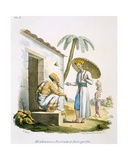 Brahmins: a Scribe and an Interpreter, 1827-35 Giclee Print by M.E. Burnouf