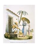 Brahmins: a Scribe and an Interpreter, 1827-35 Giclee Print by M.E. Burnouf