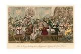 Tom and Jerry Larking at a Masquerade Supper at the Opera House, London Giclee Print by I. Robert & George Cruikshank