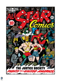 Justice League: Color Cover for All Star Comics, the Justice Society Fights for a United America Posters