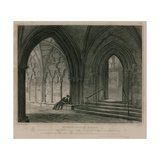 Entrance into the South Aisle, Westminster Abbey, London Giclee Print by Pieter Jansz. Quast