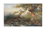 The Lotus Eaters, 1883 Giclee Print by Charles J. Staniland