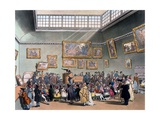 Christie's Auction Room, Illustration from 'Microcosm of London' by R. Ackermann, 1808 Giclee Print by T. & Pugin Rowlandson