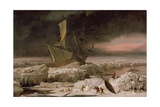 Arctic Adventure, or a Ship in Distress Off Greenland, C.1677 Giclee Print by Abraham Danielsz. Hondius