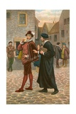 John Welch Accosts Robert Glendinning, Predicting His Call to Succeed Him in the Ministry Giclee Print by J.M.L. Ralston