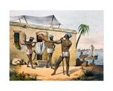 Paraiyar and Trumpet, 1827-35 Giclee Print by M.E. Burnouf