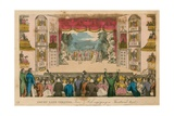 Drury Lane Theatre, London Giclee Print by I. Robert & George Cruikshank