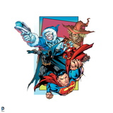 Justice League: Superman, Flash, Captain Cold, and Scarecrow Posters