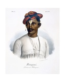 Rangani, a Litter Bearer, 1827-35 Giclee Print by M.E. Burnouf