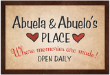 Abuela and Abuelo's Place Posters