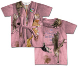 Cat Lady Nightshirt Costume Tee Bluser
