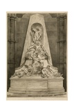 Monument to Lord Chatham at Westminster Abbey, London Giclée-Druck von H. Villiers