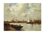 The Harbour, Southampton Giclee Print by E. Aubrey Hunt