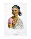 Cammatatchi, a Dancer, 1827-35 Giclee Print by M.E. Burnouf