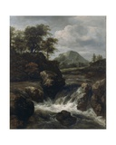 A Waterfall, 1660s Giclee Print by Jacob Isaaksz. Or Isaacksz. Van Ruisdael