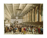 Customs House, the Long Room, from Ackermann's 'Microcosm of London' Giclee Print by T. & Pugin Rowlandson