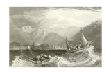 Bombay Harbour - Fishing Boats, in the Monsoon Giclee Print by Clarkson R.A. Stanfield