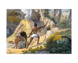 Indian Forest-Dwellers, 1827-35 Giclee Print by M.E. Burnouf