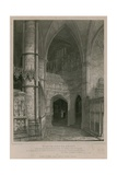 View of the South Screen of the Henry the Fifth Chapel, Westminster Abbey Giclee Print by Pieter Jansz. Quast
