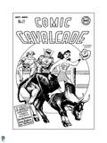 Justice League: Comic Cavalcade No 17 (Black and White) Prints