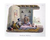 A Brahmin Doctor Taking a Pulse, 1827-35 Giclee Print by M.E. Burnouf