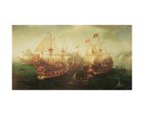 Naval Battle, 1605 Giclee Print by Hendrick Cornelisz. Vroom