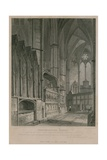 View of the South Aisle Showing Sebert's Monument, Westminster Abbey Giclee Print by Pieter Jansz. Quast