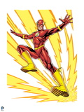 Justice League: The Flash in Running Pose with Lightning Posters