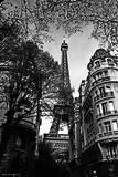 Eiffel Tower- Black and White - Afiş