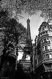 Eiffel Tower- Black and White Poster