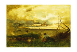 Golden Sunset Giclee Print by George Snr. Inness