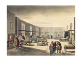 Middlesex Hospital from Ackermann's 'Microcosm of London' Giclee Print by T. & Pugin Rowlandson