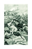The Highlanders Storming a Redoubt at the Battle of Tel El Kebir Giclee Print by Stanley L. Wood