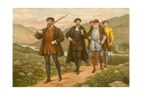 John Knox Bearing the Sword before George Wishart, after the Attempted Assassination at Dundee Giclee Print by J.M.L. Ralston