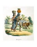 Shepherds, 1827-35 Giclee Print by M.E. Burnouf