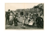 Music and Refreshments: the Band in Regent's Park, London, on Sunday Evening Giclee Print by John P. Ernslie