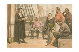 Mcward Preaching to the Sailors at Rotterdam Giclee Print by J.M.L. Ralston