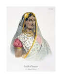 An Old Woman of High Caste, 1827-35 Giclee Print by M.E. Burnouf