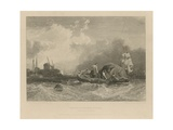 Peter Boats Fishermen Dredging Off Millwall Giclee Print by Clarkson R.A. Stanfield