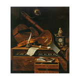 Still Life with Musical Instruments Giclee Print by Pieter Gerritsz. van Roestraten