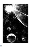 Superman: Space (Black and White) Prints