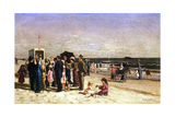 Punch and Judy on the Beach, Coney Island, 1880 Giclee Print by Samuel S. Carr