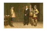 James Durham Brought before Oliver Cromwell Giclee Print by J.M.L. Ralston