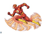 Justice League: The Flash Running Art
