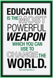 Education Nelson Mandela Quote Print