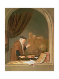 An Old Man Weighing Gold, 1667 Giclee Print by Quiringh Gerritsz. van Brekelenkam